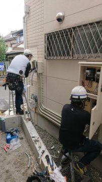 電力量計移設工事です。